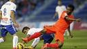 Kaptoum (Barça B) against Tenerife. FOTO: JUAN GARCÍA CRUZ (ACAN).