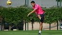 Luis Suárez, en el entrenamiento de este martes. FOTO: MIGUEL RUIZ-FCB.