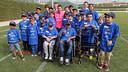 Messi with the cildren at Ciutat Esportiva. PHOTO: MIGUEL RUIX / FCB