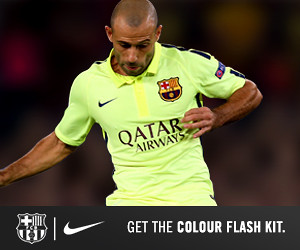 FC Barcelona third kit 2014/15