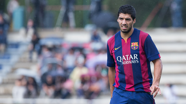 Luis Suárez has been named in the squad that faces Espanyol. PHOTO: GERMÁN PARGA-FCB.