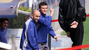 Luis Enrique and Abelardo were together at Barça for six years / PHOTO - FCB Archive