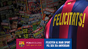 Barça congratulate the newspaper 'Sport'. PHOTO. FCB PHOTOMONTAGE