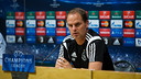 Frank De Boer spoke to the press Tuesday lunchtime / GERMÁN PARGA-FCB