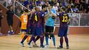Els jugador del Barça en un partit contra l'Escola Pia / FOTO: ARXIU FCB