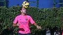 Xavi, pendant un entrainement / PHOTO: MIGUEL RUIZ-FCB