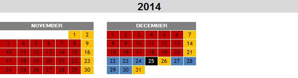 Calendari 2014 eng