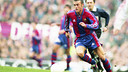 Luis Enrique was a regular under Bobby Robson in the 1996/97 season. FCB ARCHIVE