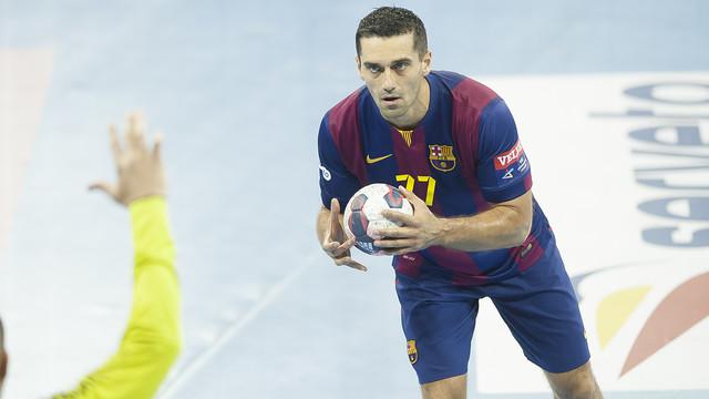 Lazarov máximo goleador del Barça de balonmano en Champions con 36 goles / FOTO: VÍCTOR SALGADO-ARCHIVO FCB