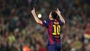 Leo Messi became the all-time La Liga scoring leader Saturday versus Sevilla / PHOTO: MIGUEL RUIZ - FCB