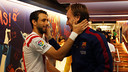Pareja and Rakitic are former Sevilla colleagues / PHOTO: MIGUEL RUIZ - FCB