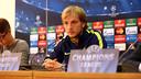 Ivan Rakitic in front of the press / PHOTO: MIGUEL RUIZ-FCB