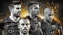 Piqué, Jordi Alba, Dani Alves and Mascherano are in the running for the World XI / PHOTO: @FIFPro