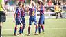 Els nois del Benjamí B celebren un gol