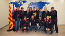 Reception with the Gent Blaugrana d'Anfa. PHOTO: GERMAN PARGA-FCB