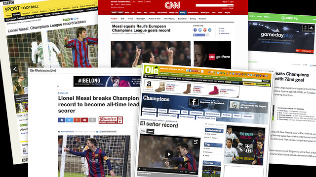 Messi dominated the sports headlines all around the planet