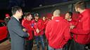 El equipo ha recibido los coches Audi. FOTO: MIGUEL RUIZ-FCB.