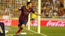 Messi a marqué un hat-trick l'an passé à Valence / PHOTO: ARXIU FCB