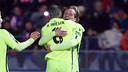 Iniesta et Rakitic après un but / PHOTO: MIGUEL RUIZ-FCB