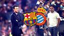 Luis Enrique et Sergio s'affronteront au Camp Nou / Montage FCB (PHOTOS: FCB i RCDESPANYOL.COM)