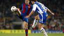 Xavi Hernández lors de la saison 2003/04 / PHOTO: MIGUEL RUIZ - FCB