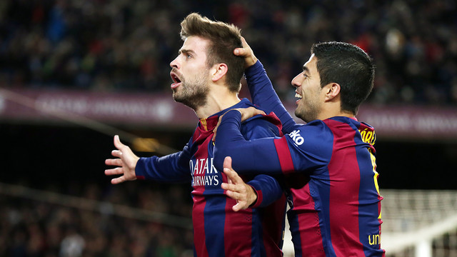 Gerard Piqué scored Barça's third goal of the afternoon / PHOTO: MIGUEL RUIZ - FCB
