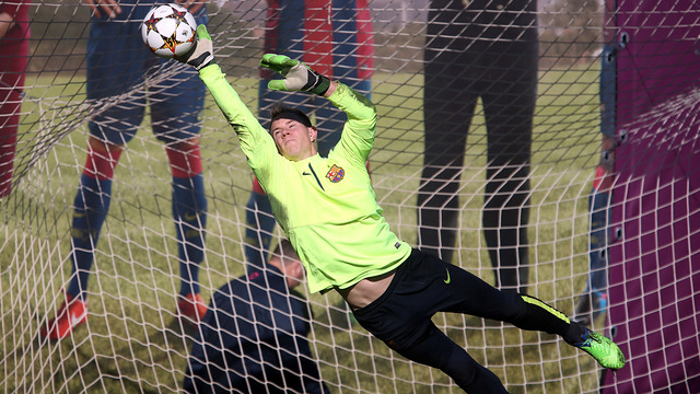 Ter Stegen was speaking after training on Tuesday / PHOTO: MIGUEL RUIZ-FCB