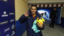 Pedro following his hat-trick last season at Getafe / PHOTO: MIGUEL RUIZ-FCB
