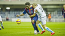 Dongou featured for the reserves against Mirandés / PHOTO: VICTOR SALGADO - FCB