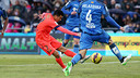 Pedro scored three at Getafe last year, but the game stayed goalless on Saturday PHOTO: MIGUEL RUIZ-FCB