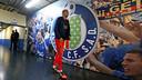 Jérémy Mathieu in the tunnel at the Alfonso Pérez al Coliseum. PHOTO: MIGUEL RUIZ-FCB.