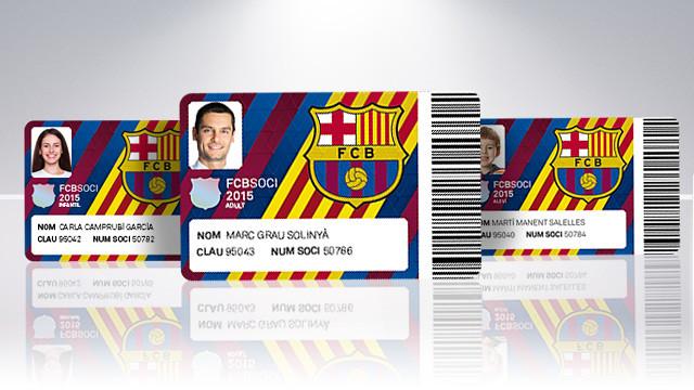 New design for 2015 membership card - FC Barcelona