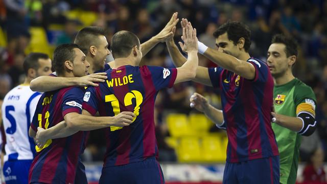 El Barça se colocó líder después de ganar al Montesinos Jumilla