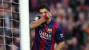 Suarez, heureux d'avoir marqué son premier but en Liga / PHOTO: MIGUEL RUIZ - FCB