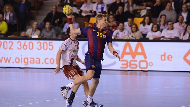 Sigurdsson, extrem del Barça d'handbol / FOTO:JAVIER QUINTANA-ASOBAL