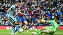 Pablo Zabaleta in action during City's recent victory over Crystal Palace / PHOTO: MCFC.CO.UK