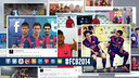 2014 for FC Barcelona on social media / FOTOMONTAGE: FCB