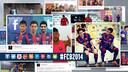2014 for FC Barcelona on social media / FOTOMONTAGE: FCB