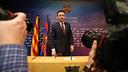 Josep Maria Bartomeu during Wednesday's press conference/ PHOTO: MIGUEL RUIZ - FCB