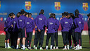 The team trained for the game on Saturday / PHOTO: MIGUEL RUIZ - FCB