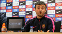 The FC Barcelona coach at the press conference on Wednesday / PHOTO: MIGUEL RUIZ-FCB