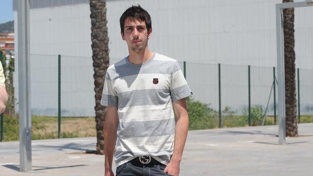 Isaac Cuenca at the Ciutat Esportive in his days as a Barça player / PHOTO: MIGUEL RUIZ-FCB.
