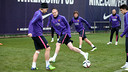 Mathieu is still awaiting clearance to play, but is training normally / PHOTO: FCB Archive