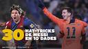 2.871 jours ont passé depuis le premier hat-trick jusqu'au 30ème / Photo FCB