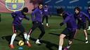 El Barça ha vuelto a entrenar pensando en el partido de Liga en Elche / FOTO: MIGUEL RUIZ - FCB