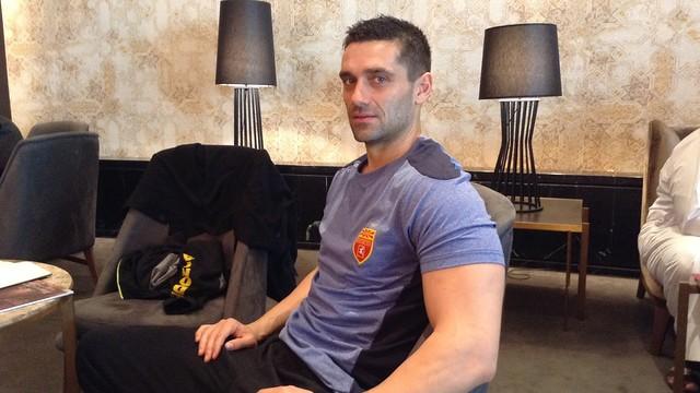 Kiril Lazarov, en el hotel de Macedonia en Doha / FOTO:FCB