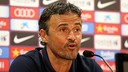 Luis Enrique, speaking to reporters at Friday's press conference. PHOTO: MIGUEL RUIZ-FCB.
