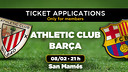 Athletic Club v FC Barcelona tickets