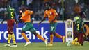 Max-Alain Gradel fue el autor del gol de Costa de Marfil que eliminaba a Camerún de la Copa África.