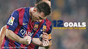 Messi has never scored such a high percentage of goals (37%) with his right foot / FCB